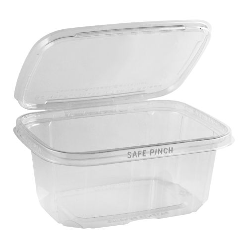 Safe Pinch Tamper Evident Rectangle Hinged Container (946ml)