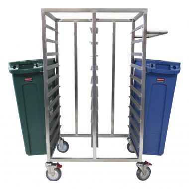 20 Tray Trolley with Handle and Bin Hooks