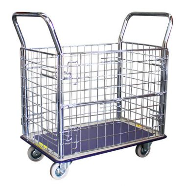 Single Deck Caged Platform Trolley (740x480mm)