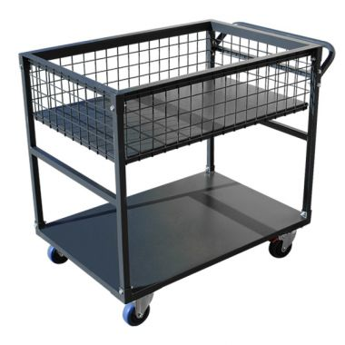2 Tier Platform Trolley with Mesh Top (900 x 600mm)
