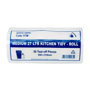 Medium 27L Tidy Liners (White)
