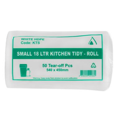 Small 18L Tidy Liners (White)